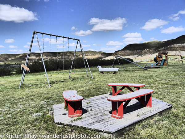 Ghostly playground in Dorothy, AB